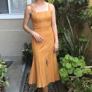 New cameo mustard Cmeo Collective dress